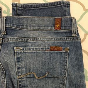 """💙👖AWESOME! 7FAM CROP STRAIGHT👖💙27 3/4 25"""" EUC"""